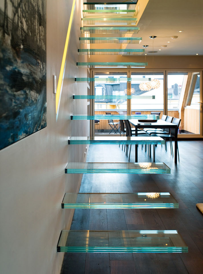 Elegant Modern Penthouse With Glass Theme Idesignarch