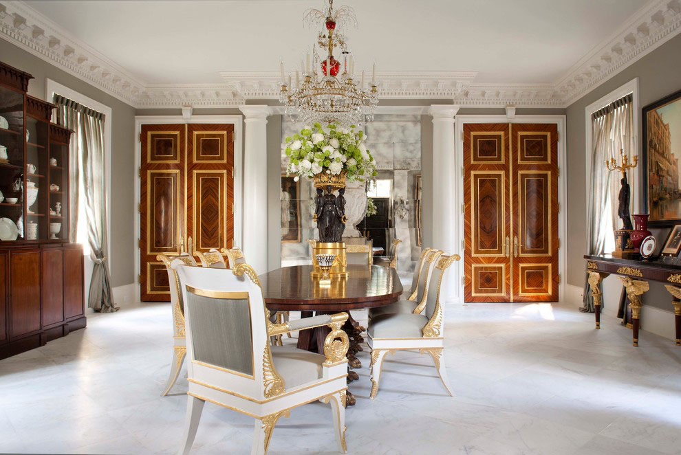 Palatial Federal Style Mansion In Houston Idesignarch