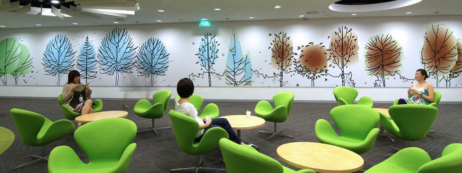 Fun Colours Provide Vibrant Office Interiors IDesignArch Interior Design Architecture