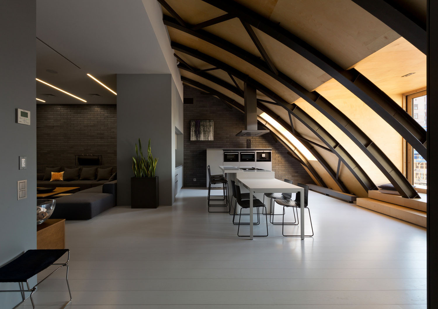 Industrial Space With Arc Roof Transformed Into