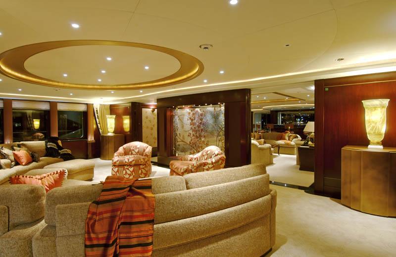 Sleek Mega Yacht Kismet Cruises In Style IDesignArch