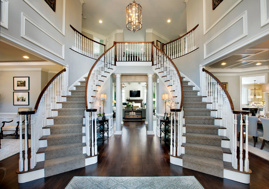Luxury Home Elegant Curved Staircases