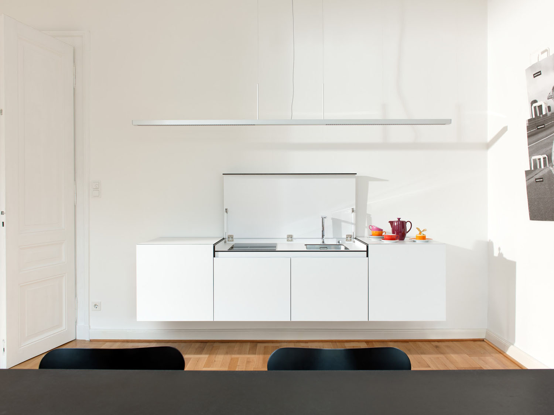 Timeless Minimalist Space Saving Kitchen Module