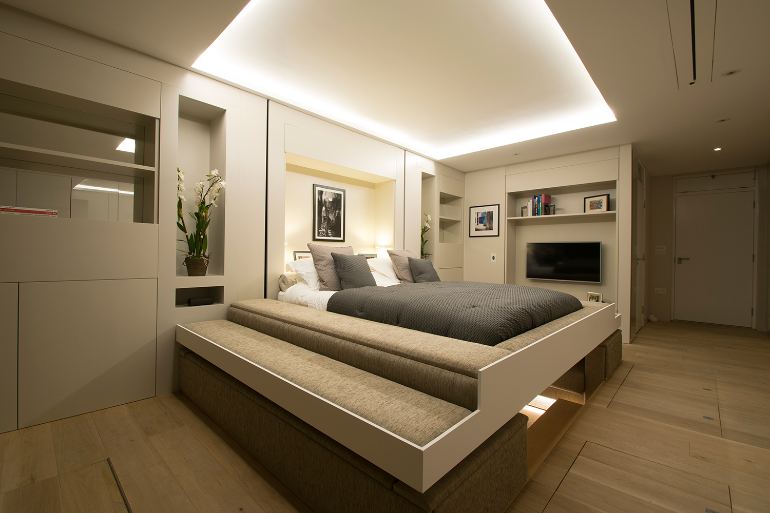Modular Studio Apartment With Elevator Bed And