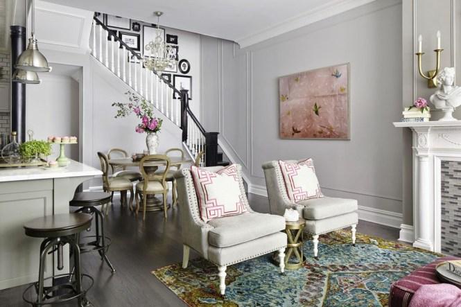 Top Townhouse Living Room Decor Por Home Design Contemporary Under House Decorating