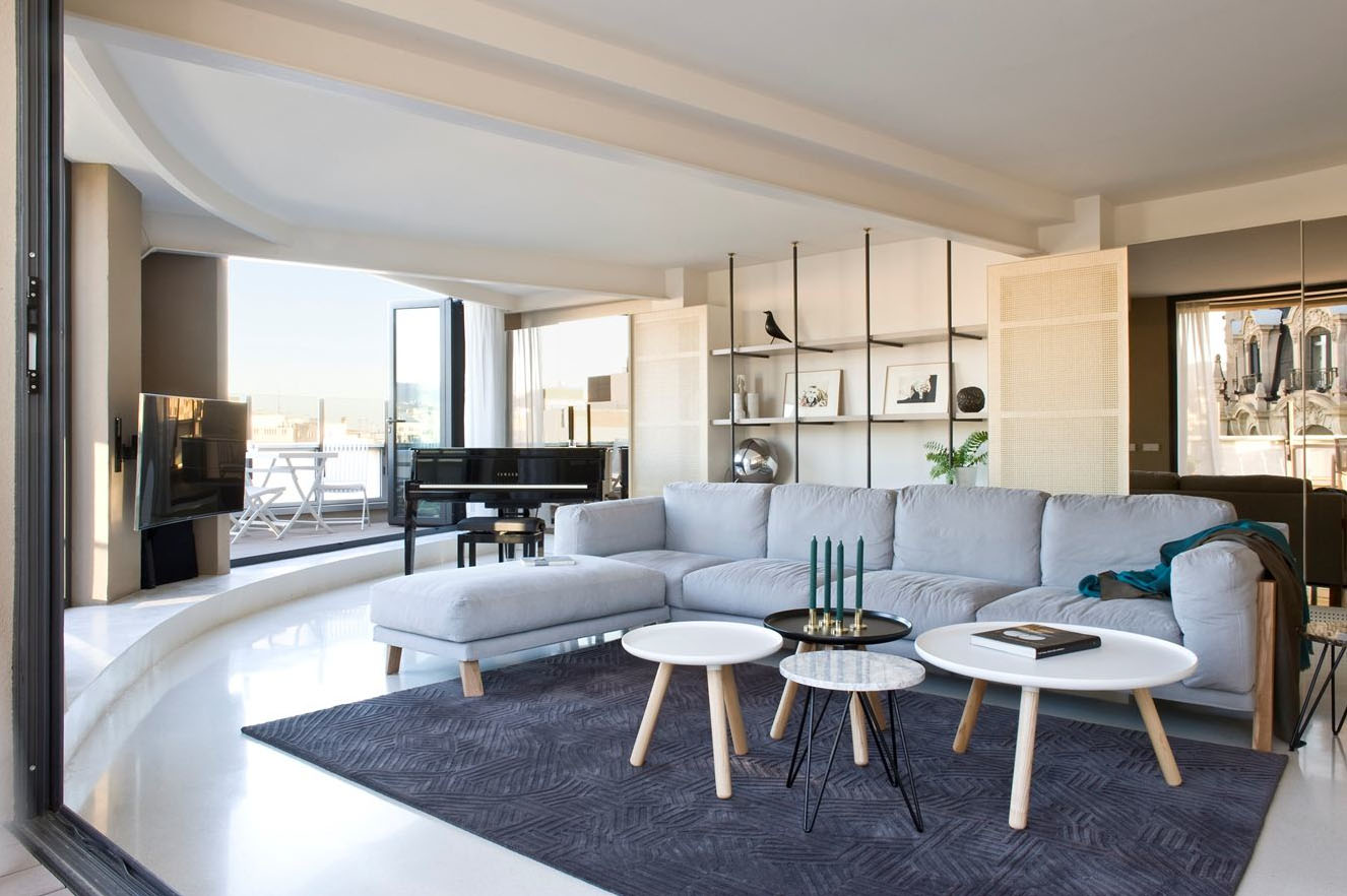 Unique Modern Penthouse On Paseo De Gracia In Barcelona