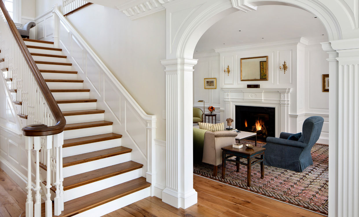 Crown Moulding Dominates This Updated Neoclassical American Federal Style Home IDesignArch