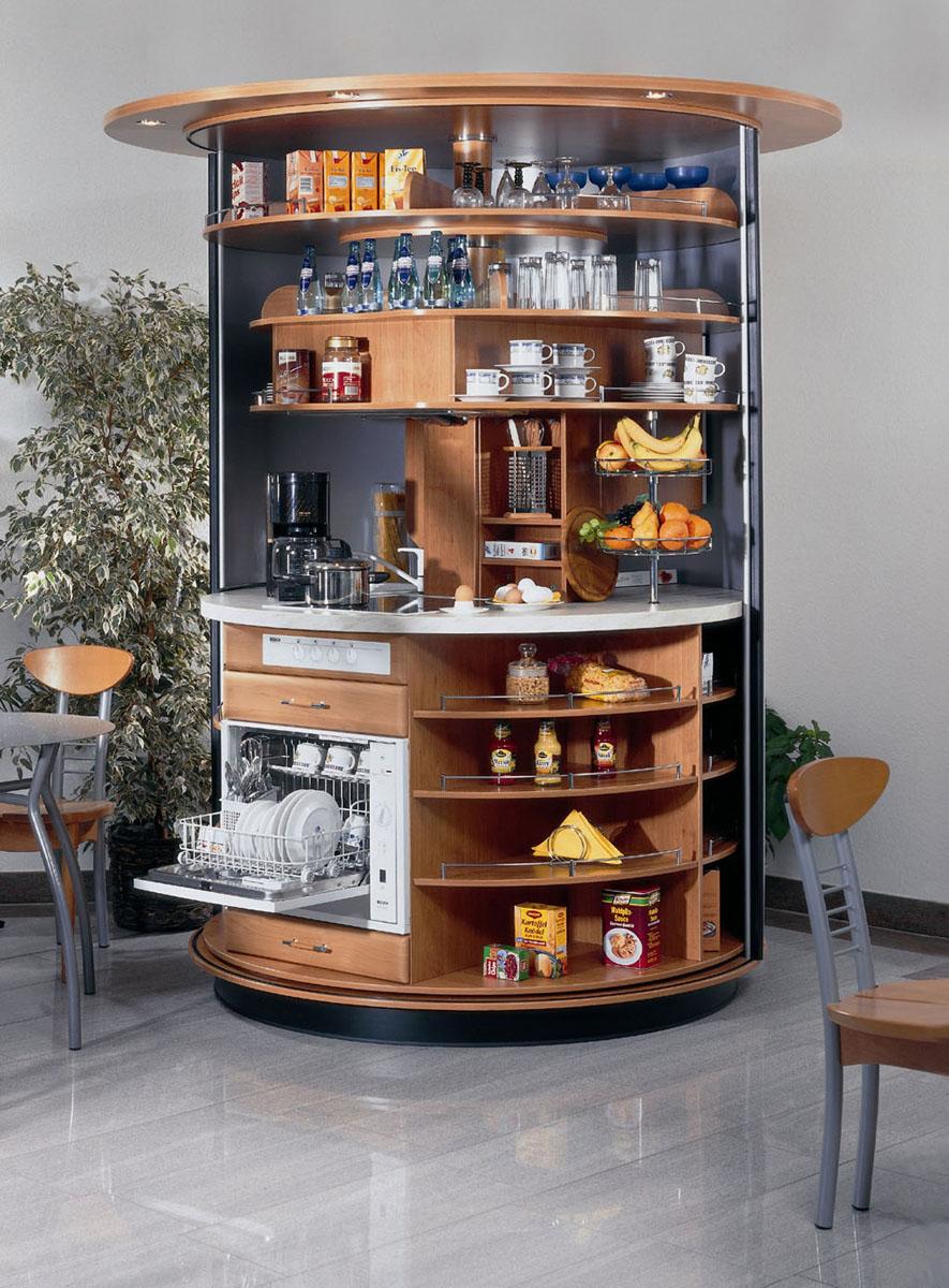 Revolving Circle Compact Kitchen IDesignArch Interior Design Architecture Amp Interior