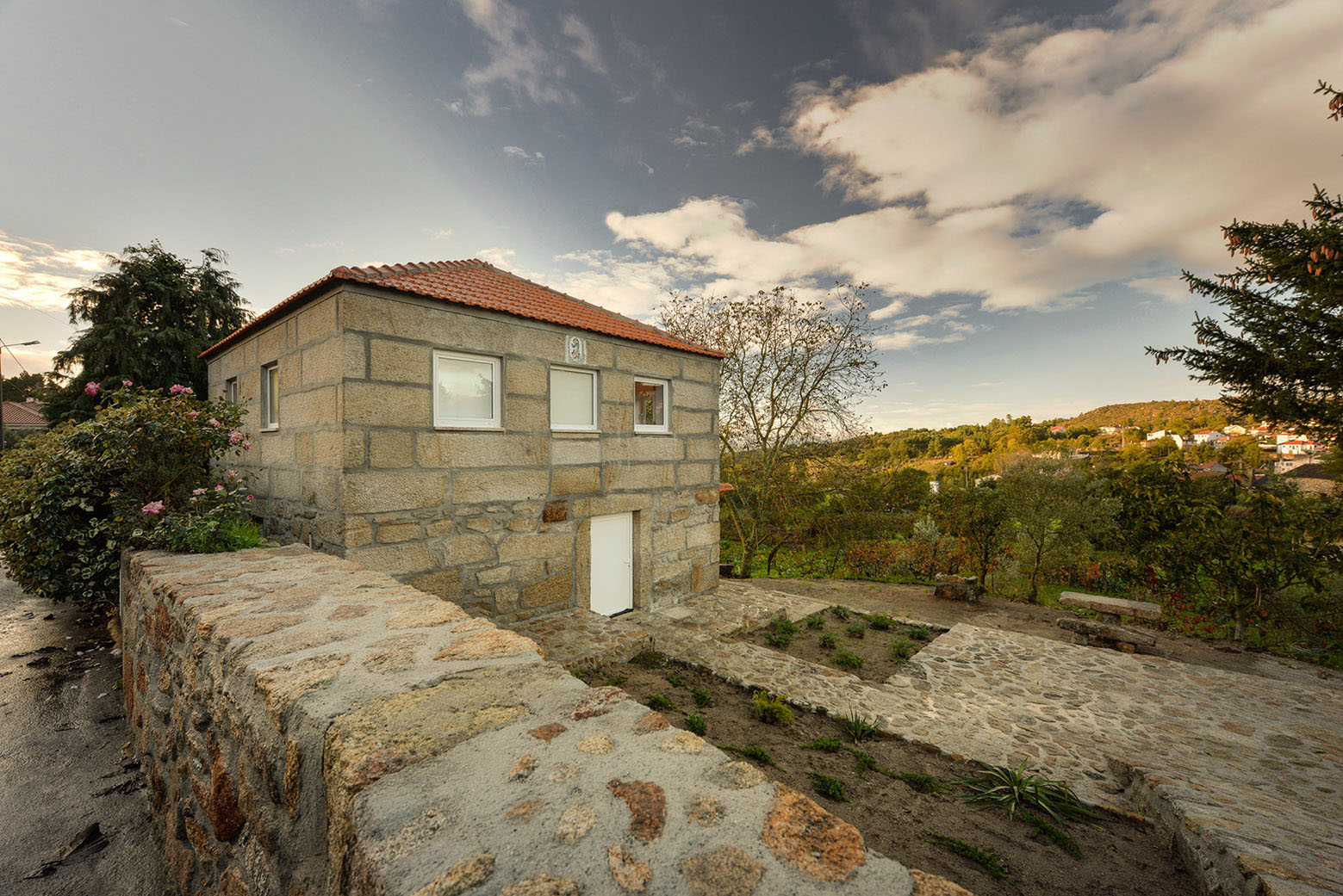 Ancient Rural Stone House With Modern Interior Wood