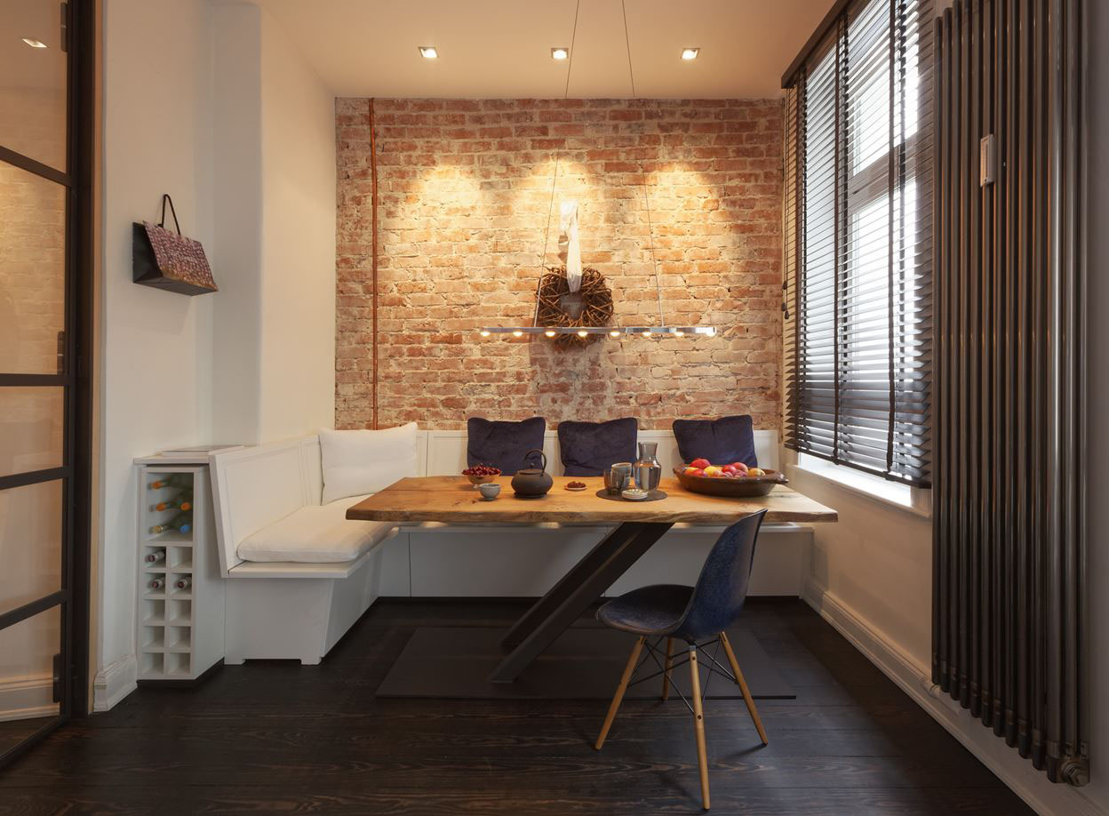 Cozy Renovated Apartment With Rustic Brick Walls