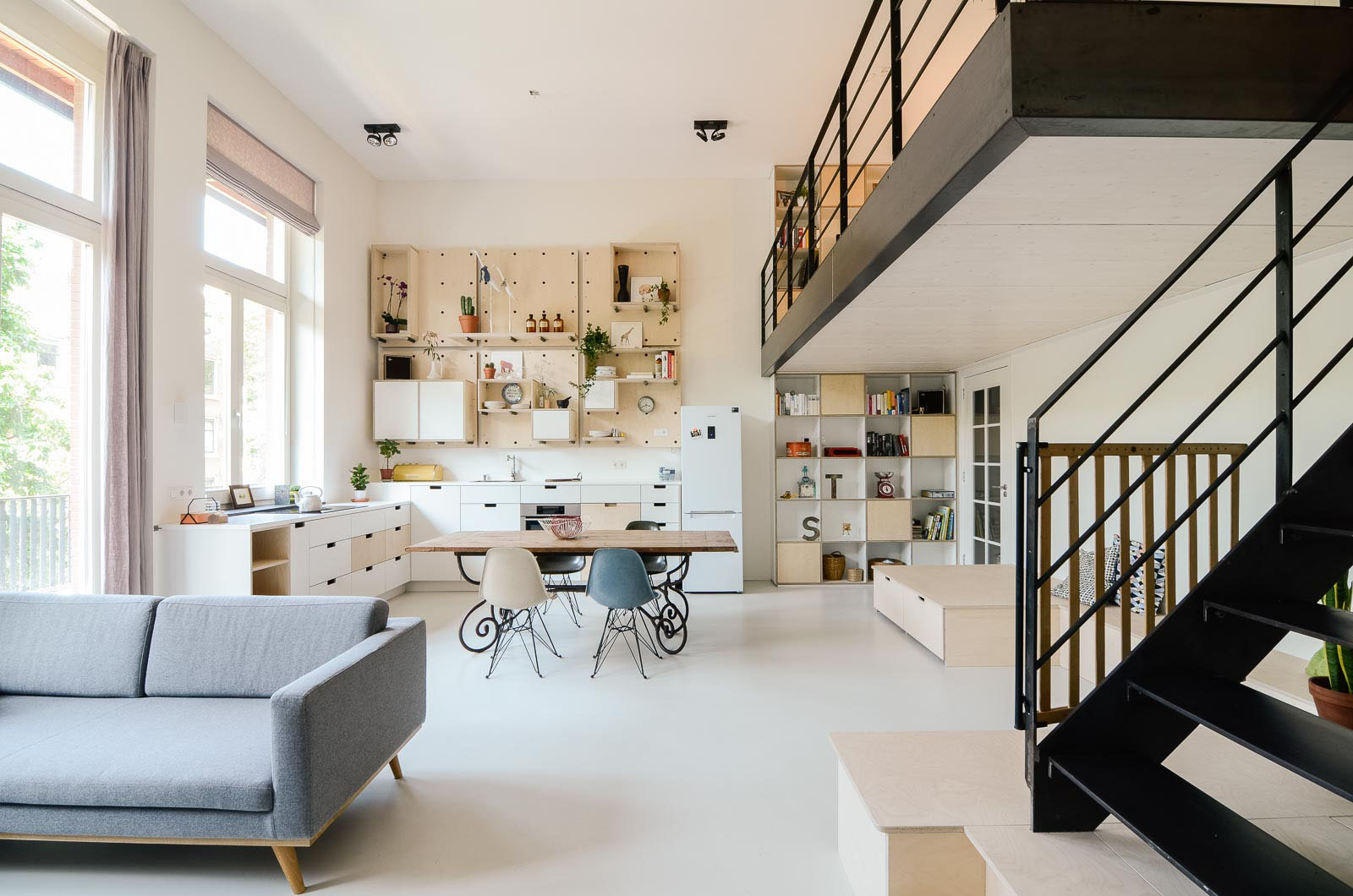 Old School Building Converted Into Modern Family Loft