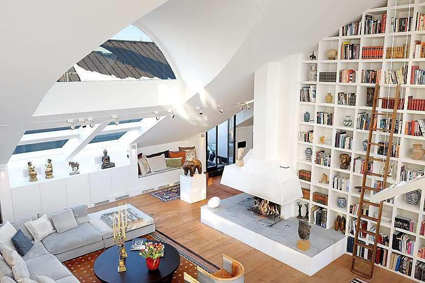Beautiful Loft In Stockholm With High Ceilings IDesignArch Interior Design Architecture