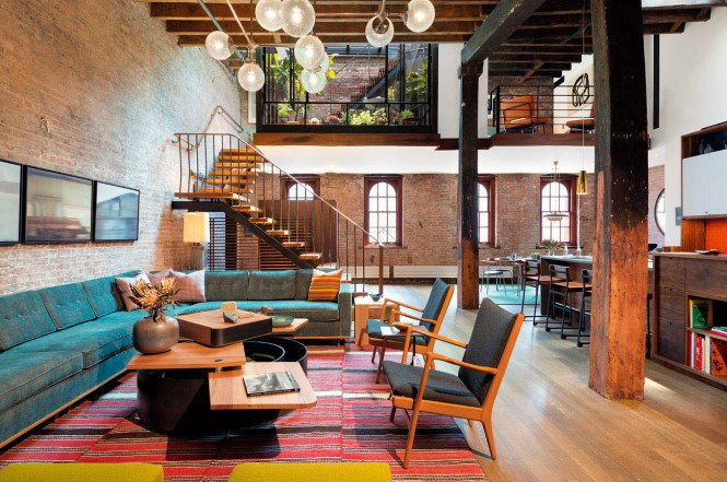 Loft In Tribeca With Retractable Glass Roof