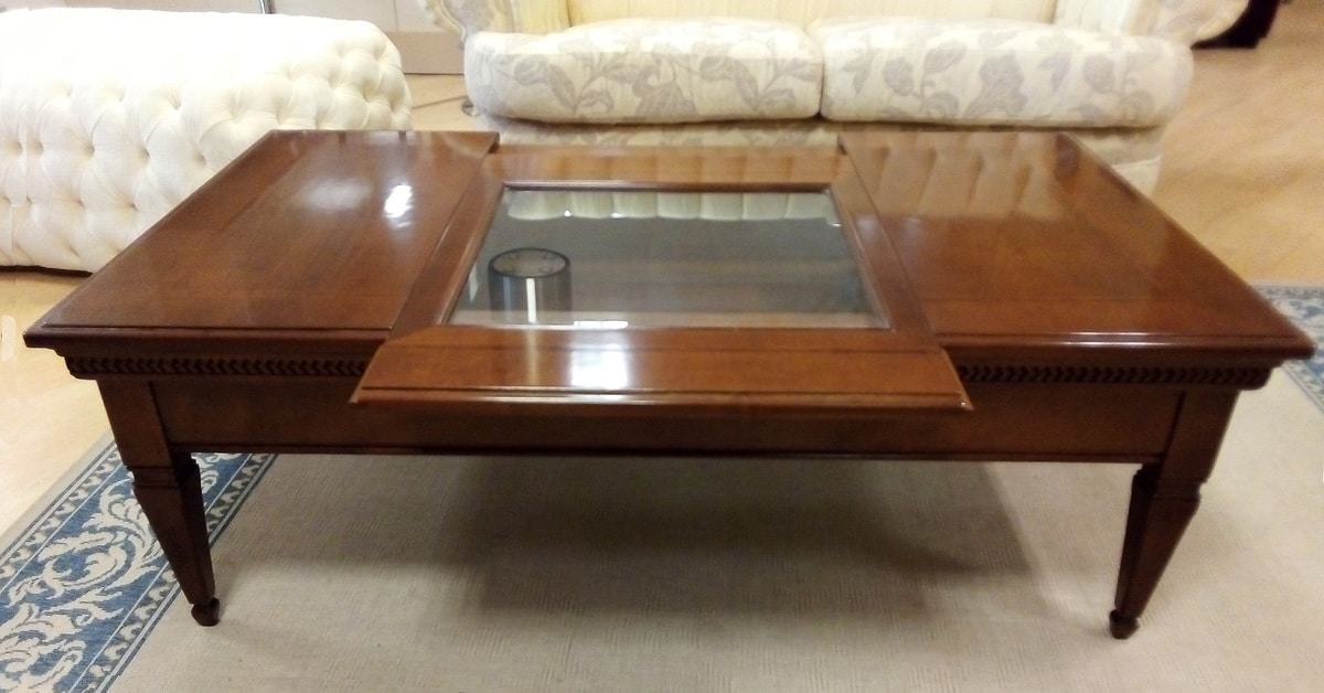 classic coffee table with opening top