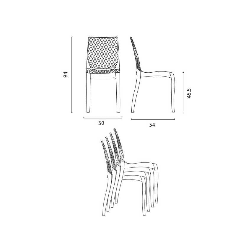 chaise en polycarbonate transparent