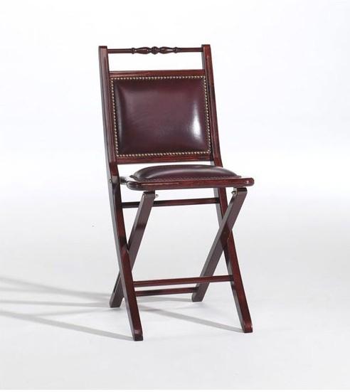 chaise pliante rembourree avec un