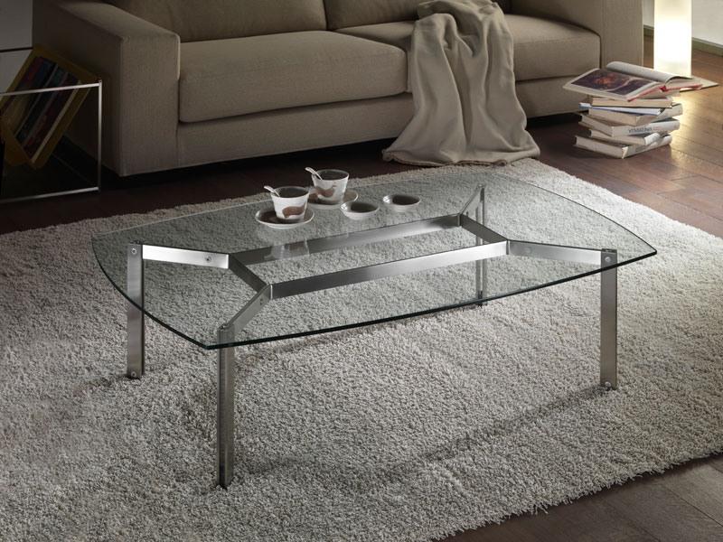 table basse rectangulaire en verre pour