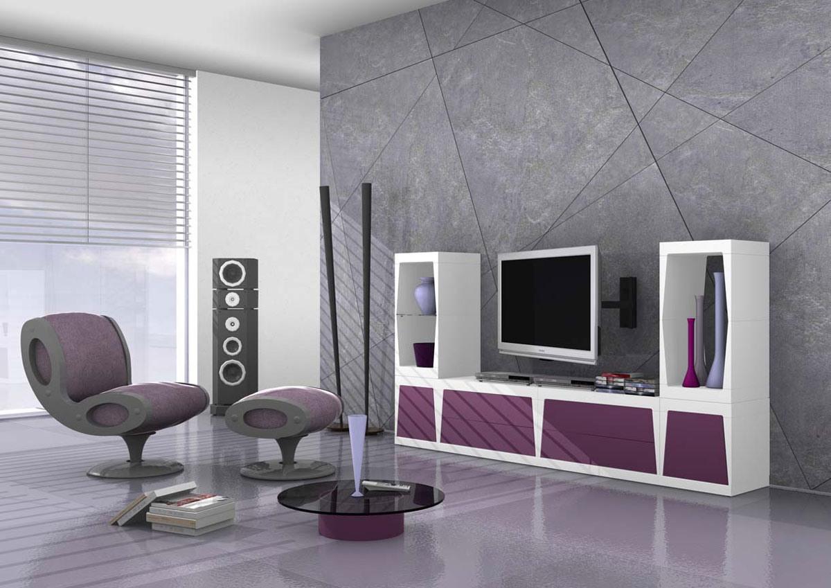 modular meuble tv en stratifie mat