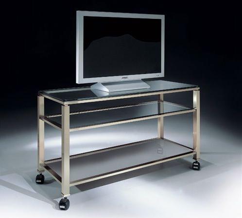 meuble tv avec roues et plateau en
