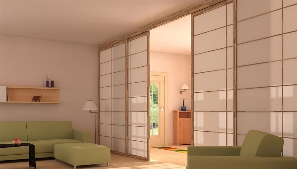 murs coulissants de style japonais