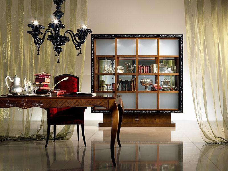 vitrine bibliotheque avec portes