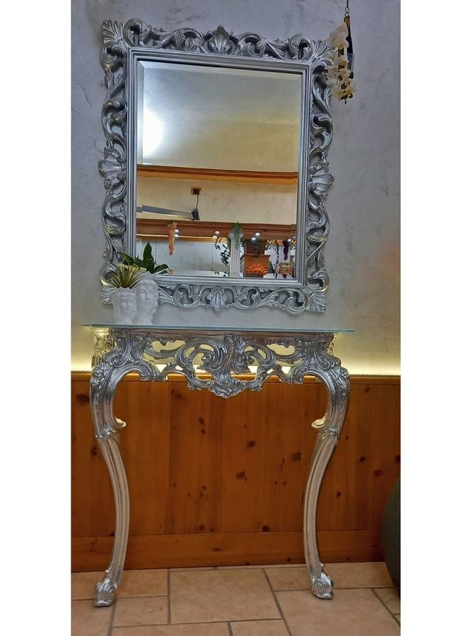 Specchiera Classica Rettangolare Con Cornice Finitura