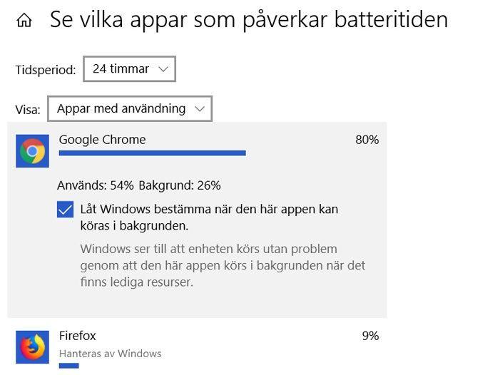 Längre batteritid laptop