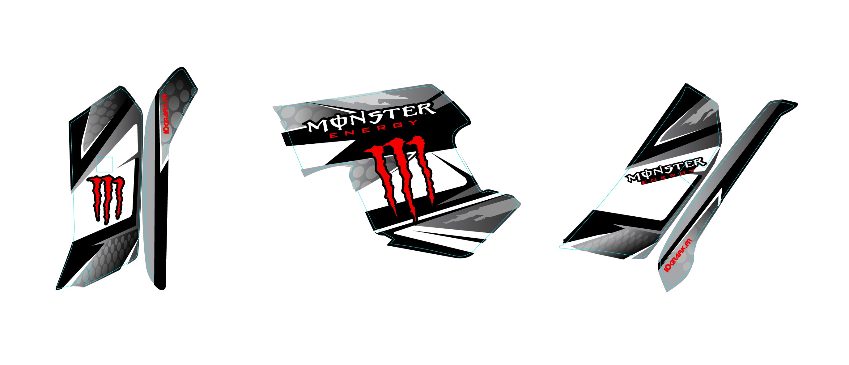 Kit Decoration Red Monster