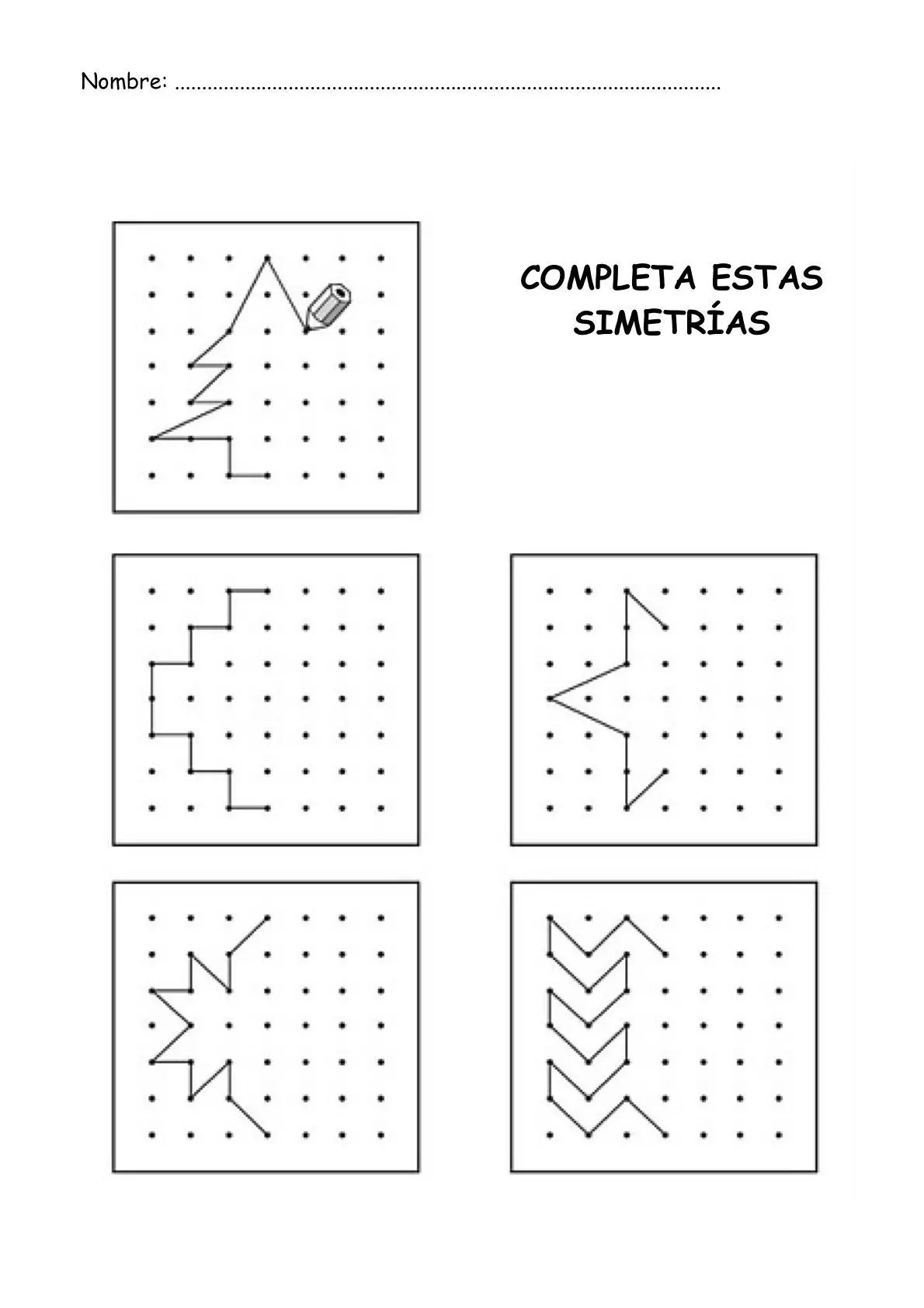 Completar Simetrias