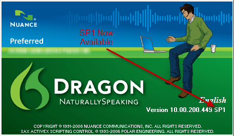 Dragon NaturallySpeaking Service Pack 1