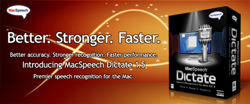 MacSpeech Dictate Upgrade to Version 1.5 Announced