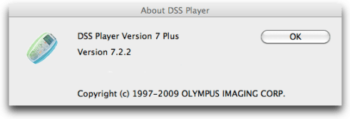Olympus DSS Player Version 7 Plus for Apple Mac