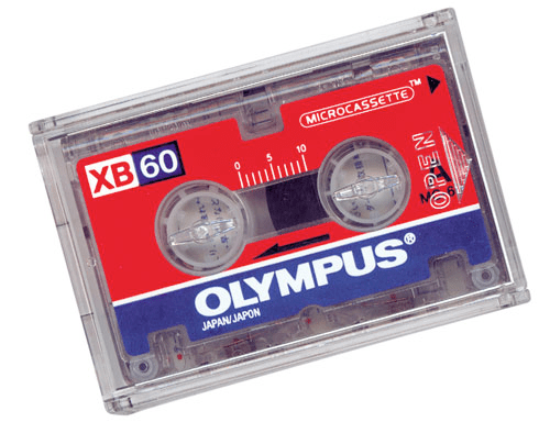 Olympus microcassette discontinued in Australia