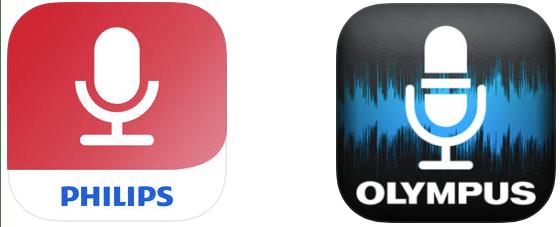 Philips Dictation App vs Olympus Dictation App