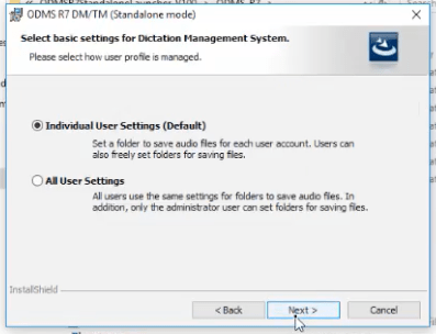 Install Olympus ODMS R7 Standalone
