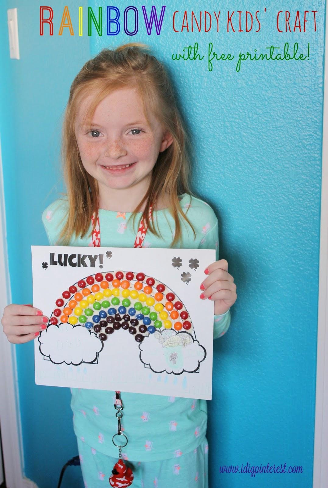 St Patrick S Day Rainbow Candy Kids Craft Amp Free