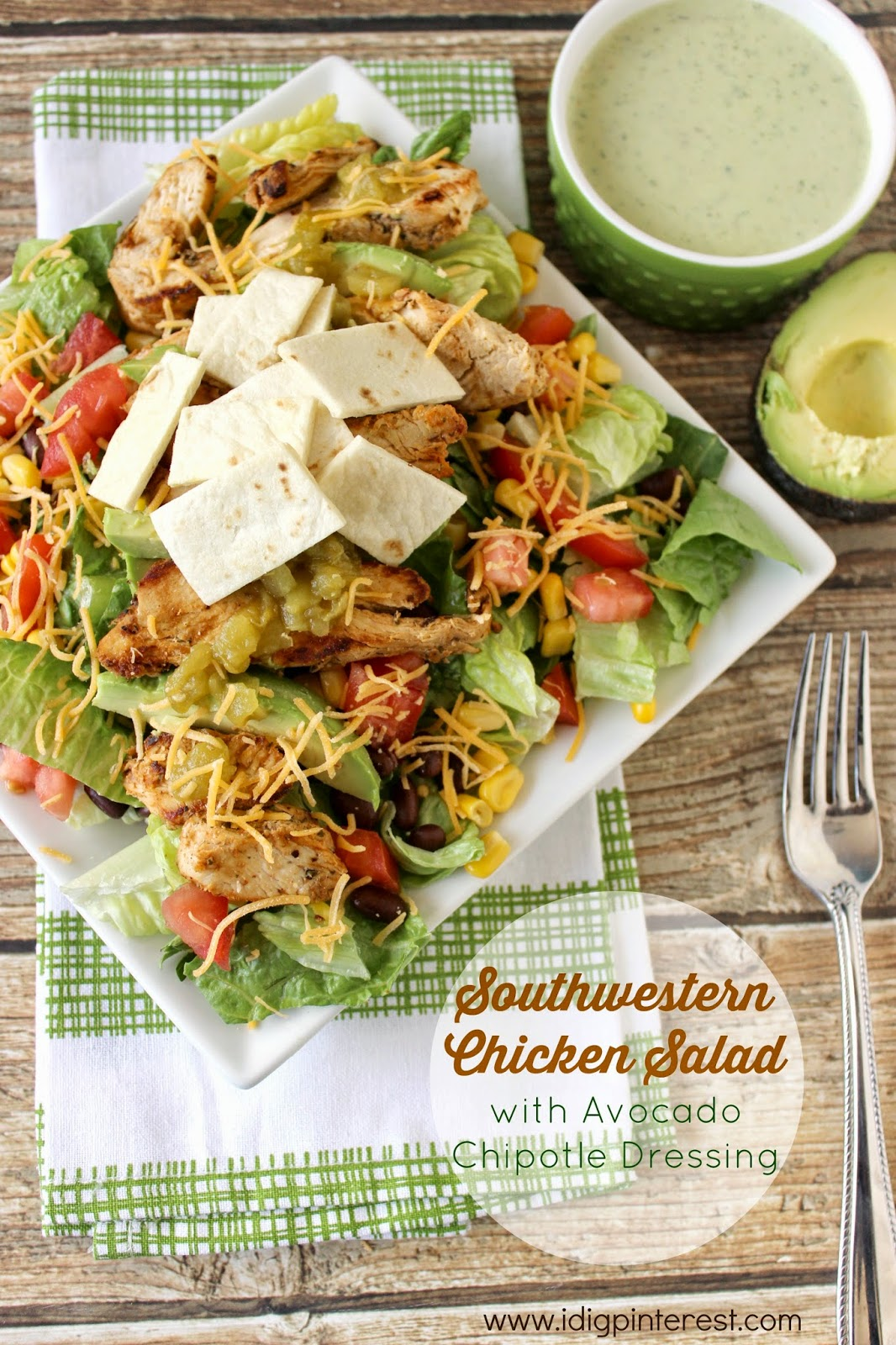 Ad Community Involvement Amp Southwestern Chicken Salad With Avocado Chipotle Dressing