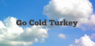Go Cold Turkey