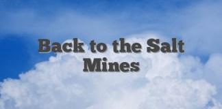 Back to the Salt Mines