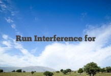 Run Interference for