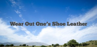Wear Out One's Shoe Leather