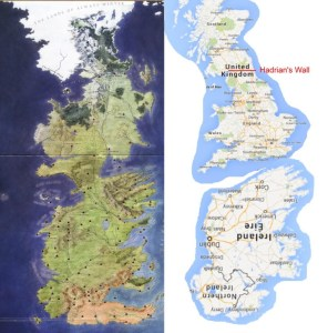 Westeros is the British Isles