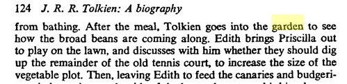 Tolkien in his vegetable garden