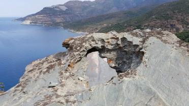 Angel through rockhole