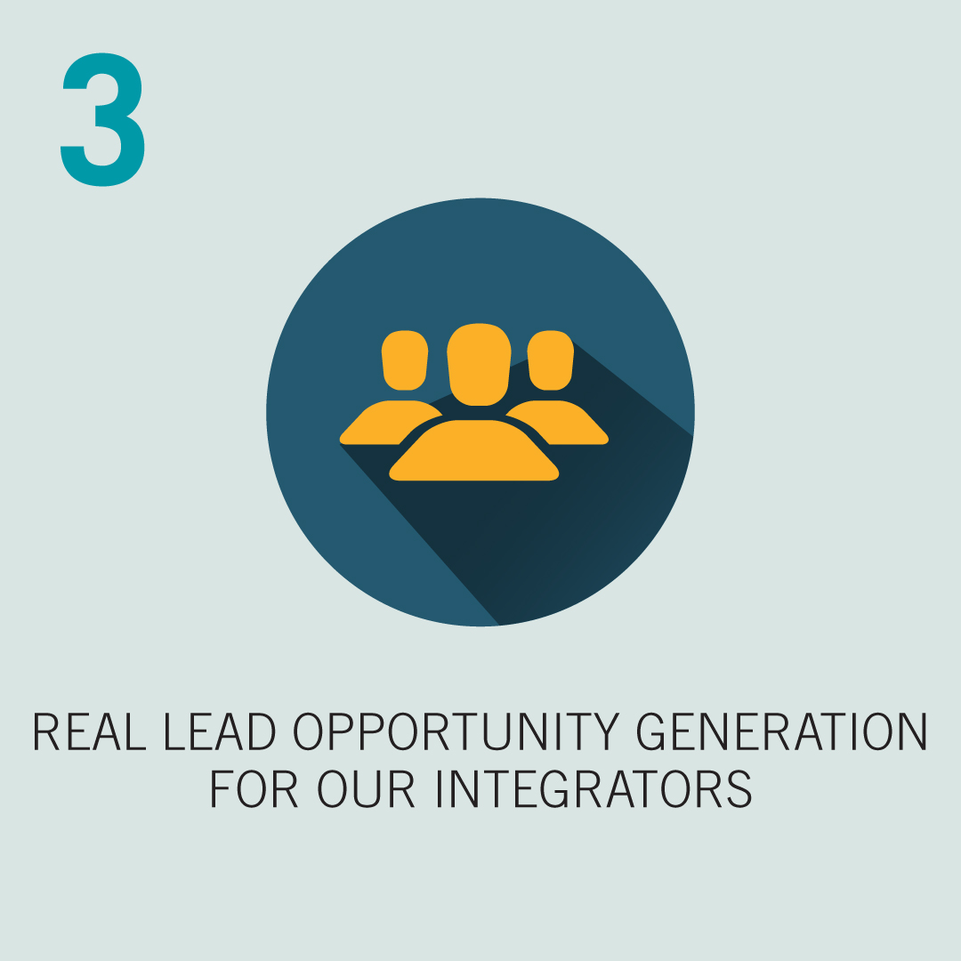 3: Real Lead Opportunity Generation for our Integrators