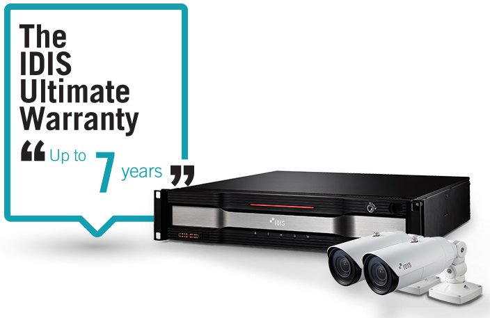 The IDIS Ultimate Warranty, Up to 7 years