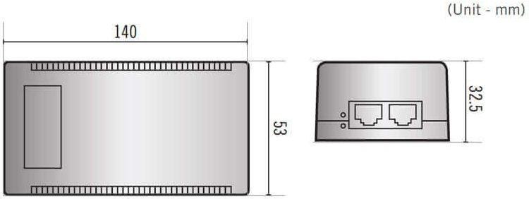 DA-PI2101 afmetingen
