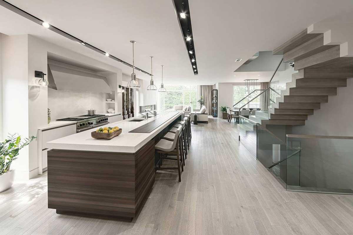 cuisine blanche et bois de style
