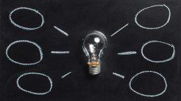 lightbulb on whiteboard
