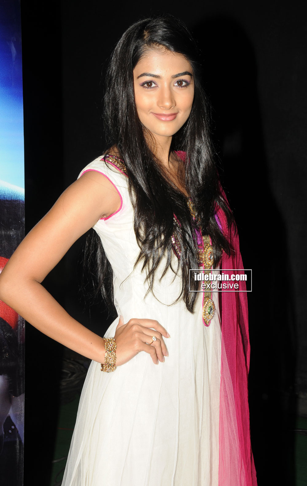 Pooja Hegde in white kurta